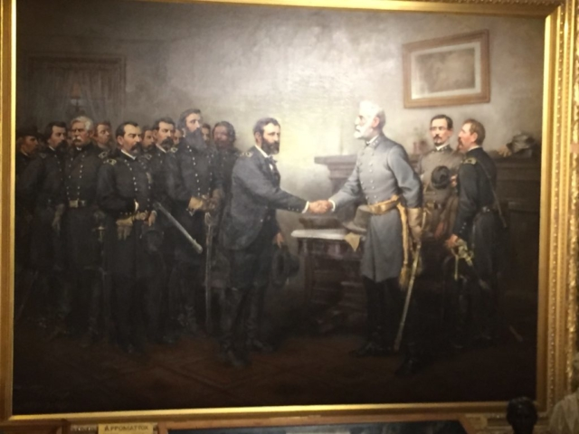 Peace in Union painting by Thomas Nast at Galena Museum