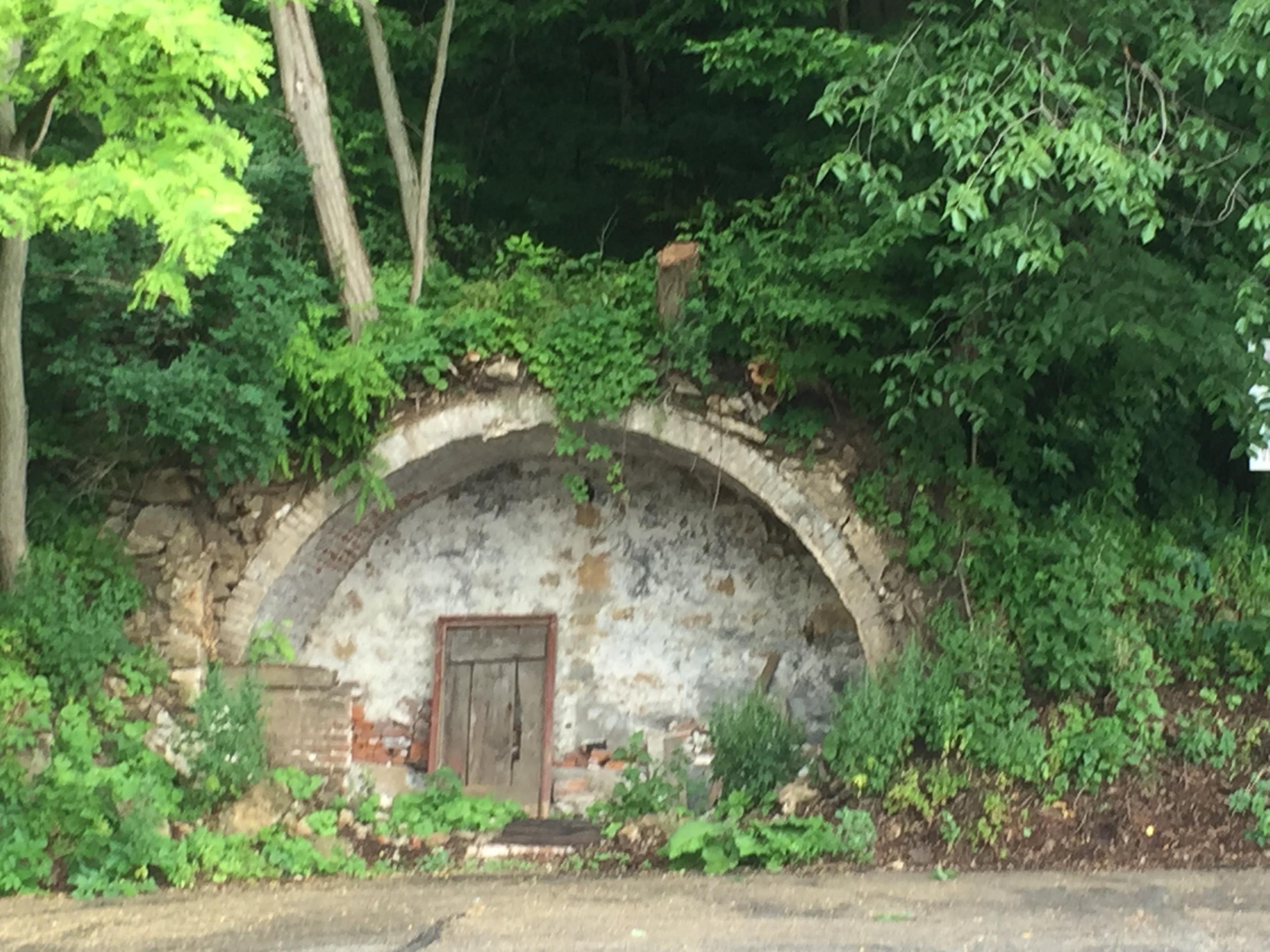 Arch in hillside
